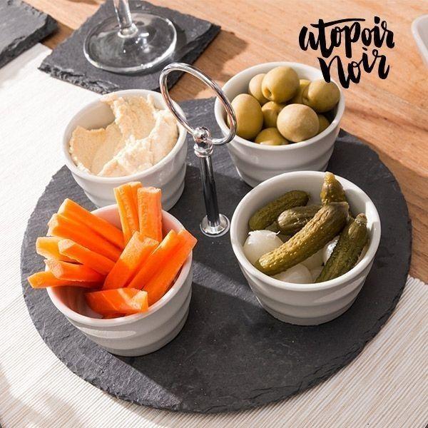 Appetizer sett av skifer fra Atopoir Noir