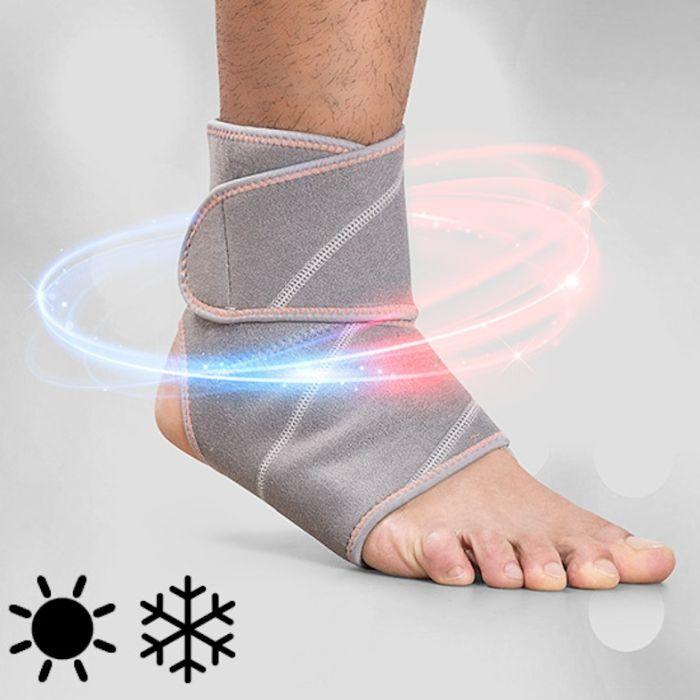 InnovaGoods Wellness Care varme og kjøle ankelstøtte er meget effektiv for å lindre kronisk smerte eller smerte fra skader og slag takket være kulde/varmeeffekten.