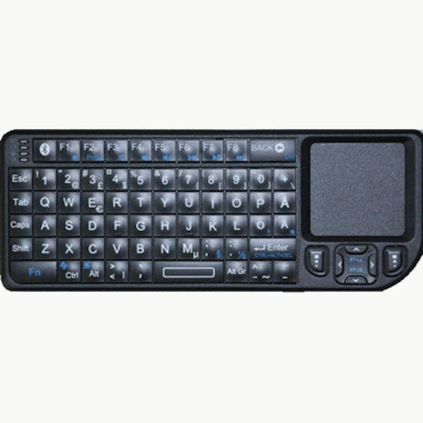 Minitastatur med muspad, laserpeker, 2,4GHZ trådløst