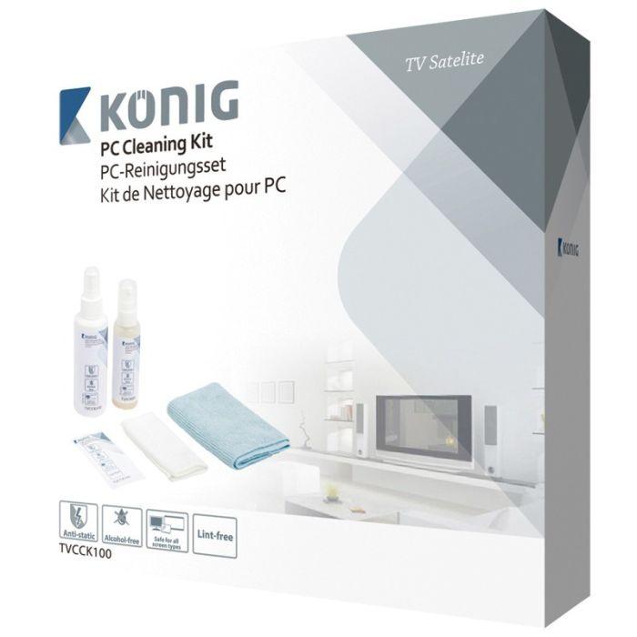 Komplett rengjøringssett til å rengjøre TV-er, nettbrett og bærbare og stasjonære PC-er