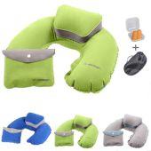 Oppblåsbar nakkepute, sovebriller og ørepropper fra Joytour